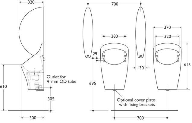 Aridian waterless urinal bowl Waste Piping Diagram Whirlpool Piping Diagram urinal piping diagram