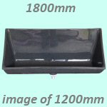 1800mm GW6 Accona GRP Waterless Urinal Trough -  Grey Granite